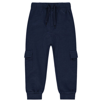 Fleece sweatpants with large pockets