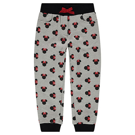 Fleece sweatpants with an allover ©Disney Minnie Mouse print