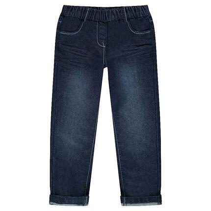 Slim jeans with an elastic waistband