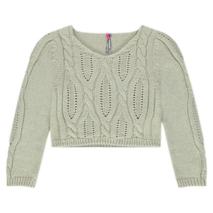 Short twisted knit sweater