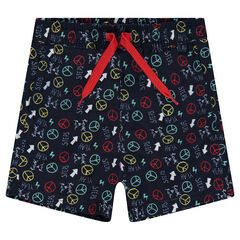 Swim trunks with an allover print