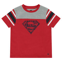 Short-sleeved jersey tee-shirt with ©Warner Superman print