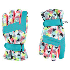 Junior - Ski gloves with an allover graphic print