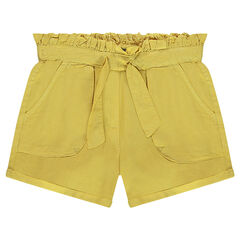 Junior - Tencel twill shorts with drawstrings