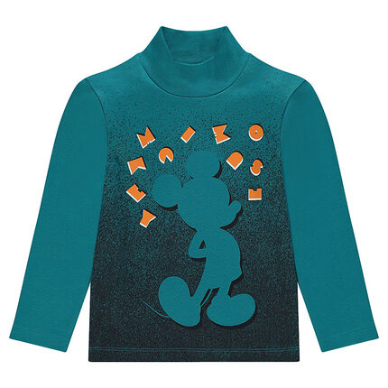 Thin jersey sweater with Disney Mickey Mouse print
