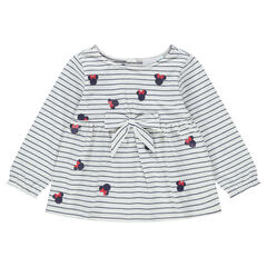 Jersey sailor top with allover ©Disney Minnie Mouse design and stripes