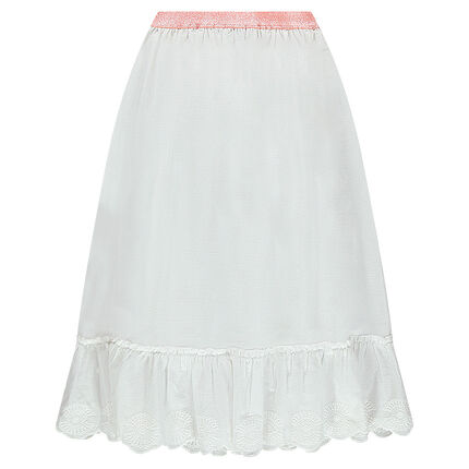Junior - Long cotton voile skirt with a shiny waistband