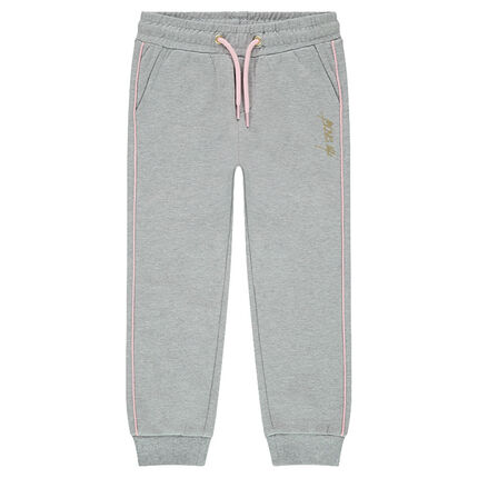 Junior - Fleece sweatpants with contrasting piping