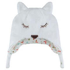 Fox-shaped sherpa cap
