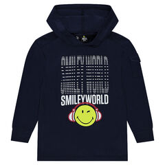 Junior - Fleece Hoodie with © Smiley print
