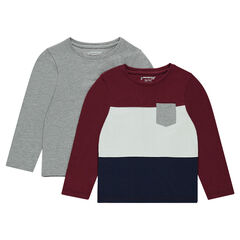 Set of 2 long-sleeved jersey tee-shirts