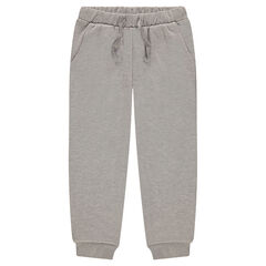 Pants in fleece mixed with shiny thread