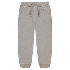 Pants in fleece mixed with shiny thread