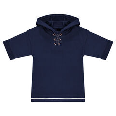 Junior - Hooded fleece sweatshirt with trendy laces