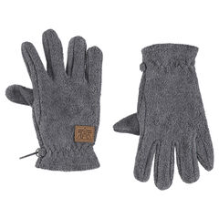 Plain-colored microfleece gloves