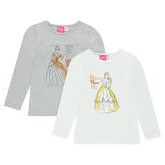 Set of 2 undershirts featuring Disney Belle and Cinderella