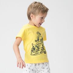Short-sleeved jersey tee-shirt with an anchor print