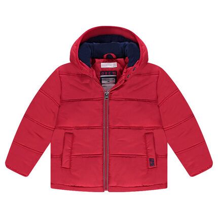 Microfleece-lined quilted down jacket