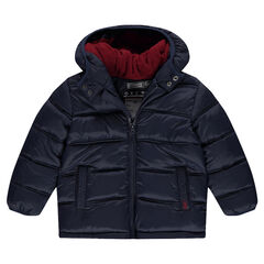 Microfleece lined quilted jacket