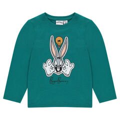 Long-sleeved tee-shirt featuring Looney Tunes Bugs Bunny print