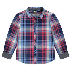 Junior - Long-sleeved checkered shirt