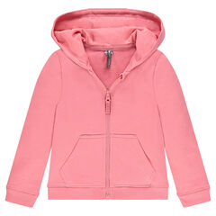 Junior - Zipped fleece hooded jacket
