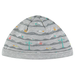 Jersey cap with an allover print