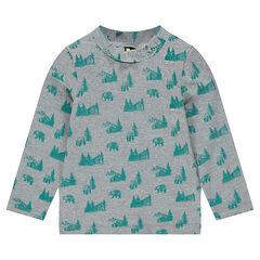 All-over printed interlock jersey undershirt