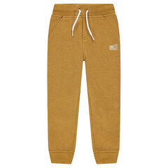Heather fleece joggers with logo print