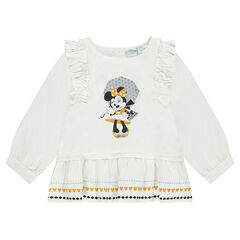 Frilled tunic with Disney Minnie Mouse print