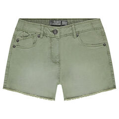 Junior - Used-effect overdyed canvas shorts