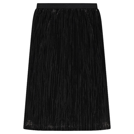 Junior - Mid-length pleated skirt with golden spray effect