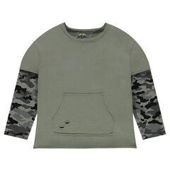 Junior - Army 2-in-1 Fleece Sweatshirt