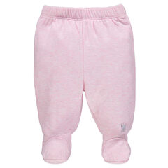 Pants with elasticated feet for newborns