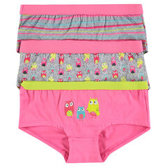 Set of 3 trendy multicolor shorties