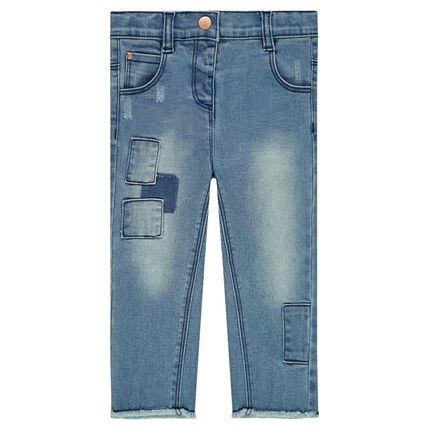 Jeans with patches