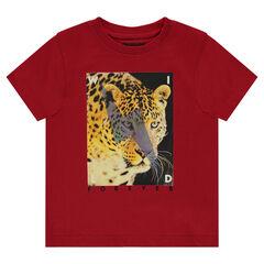 Plain short sleeves t-shirt with fantasy print