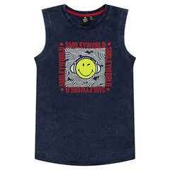 Junior - Jersey tank top with © Smiley print