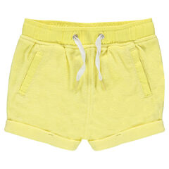 Striped terry cloth shorts