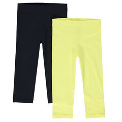 Junior - Set of 2 plain-color capri pants