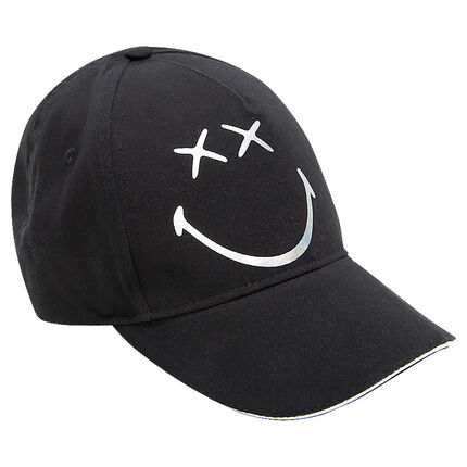 Twill cap with ©Smiley print