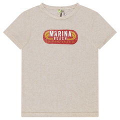 Junior - Heathered short sleeve t-shirt with retro print