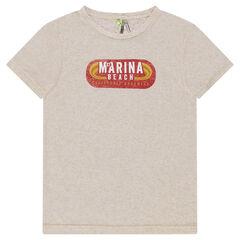 Junior - Heathered short sleeve t-shirt with retro print