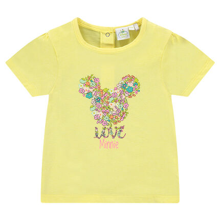 Short-sleeved t-shirt with decorative Disney Minnie Mouse print