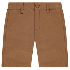Camel fancy cotton Bermuda shorts