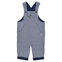 Overall in laminated jersey with printed lining