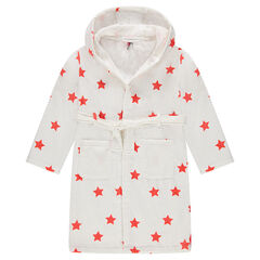 Junior - Hooded bathrobe with allover stars