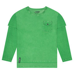 Junior - 2-in-1 Long Sleeve T-Shirt with Pocket
