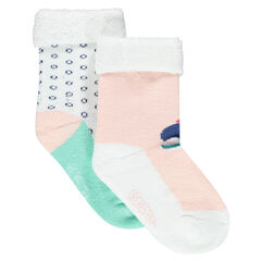 Set of 2 pairs of terry loop knit socks