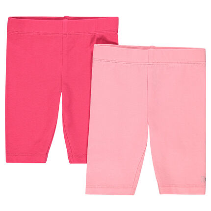 Set of 2 plain-colored capri pants